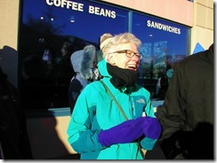 Susan Lambert, former BCTF President Supporting FortisBC Locked Out Worker At Rally in Trail on December 7, 2013